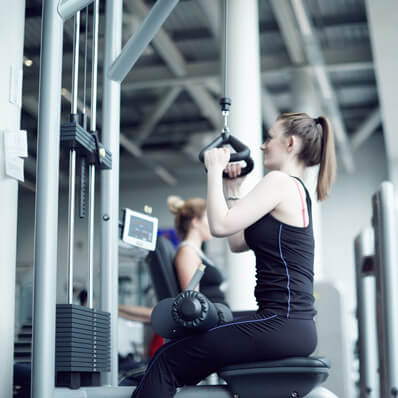 Woman exercising at CitySpace
