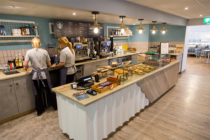 Eating on campus – The Riverside upper café