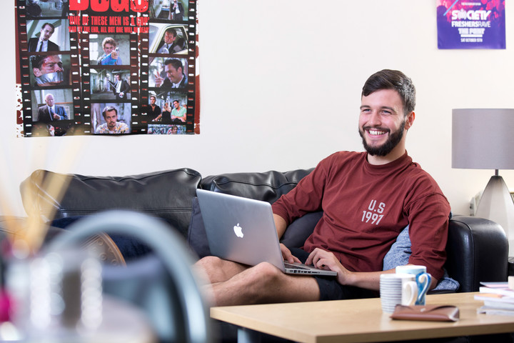 Student in common room