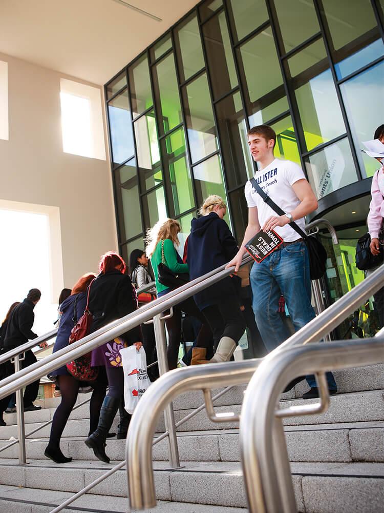 Students outside CitySpace