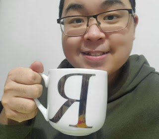 Student with a coffee cup