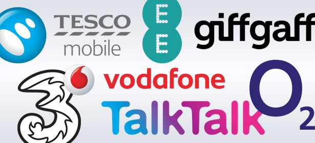Collage of UK phone networks
