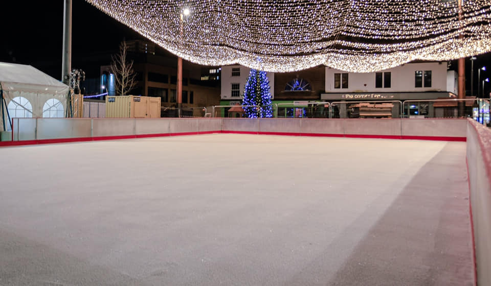 Ice skating rink in Keele Square