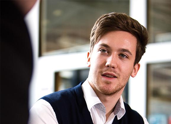 Tom Husmann, Business and Management graduate