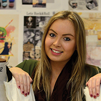 Kate Cluness, Fashion Product and Promotion graduate