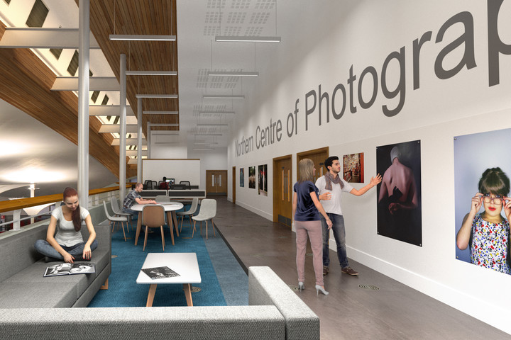 An artist's impression of the students' breakout space in the Northern Centre of Photography