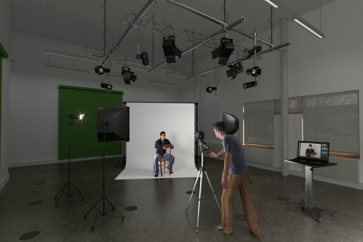 An artist's impression of a photography studio in the Northern Centre of Photography
