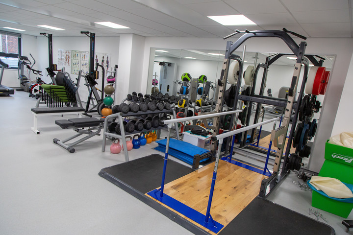 Equipment in the Clinical Rehabilitation and Exercise Therapy Suite