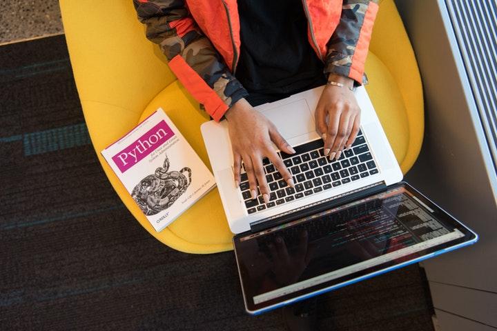 Python learning on laptop