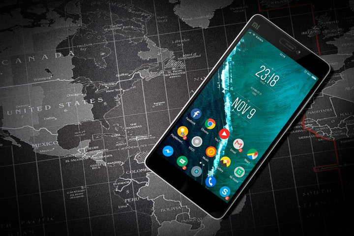 Phone and map