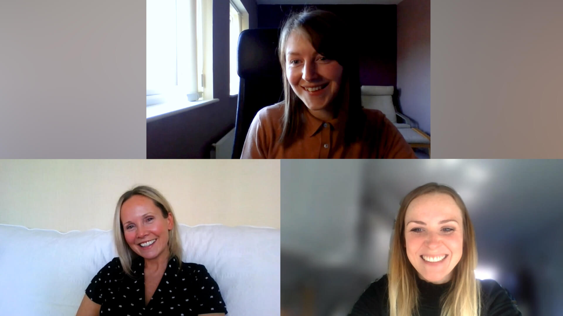 Image of performing arts webcast panel on Microsoft Teams