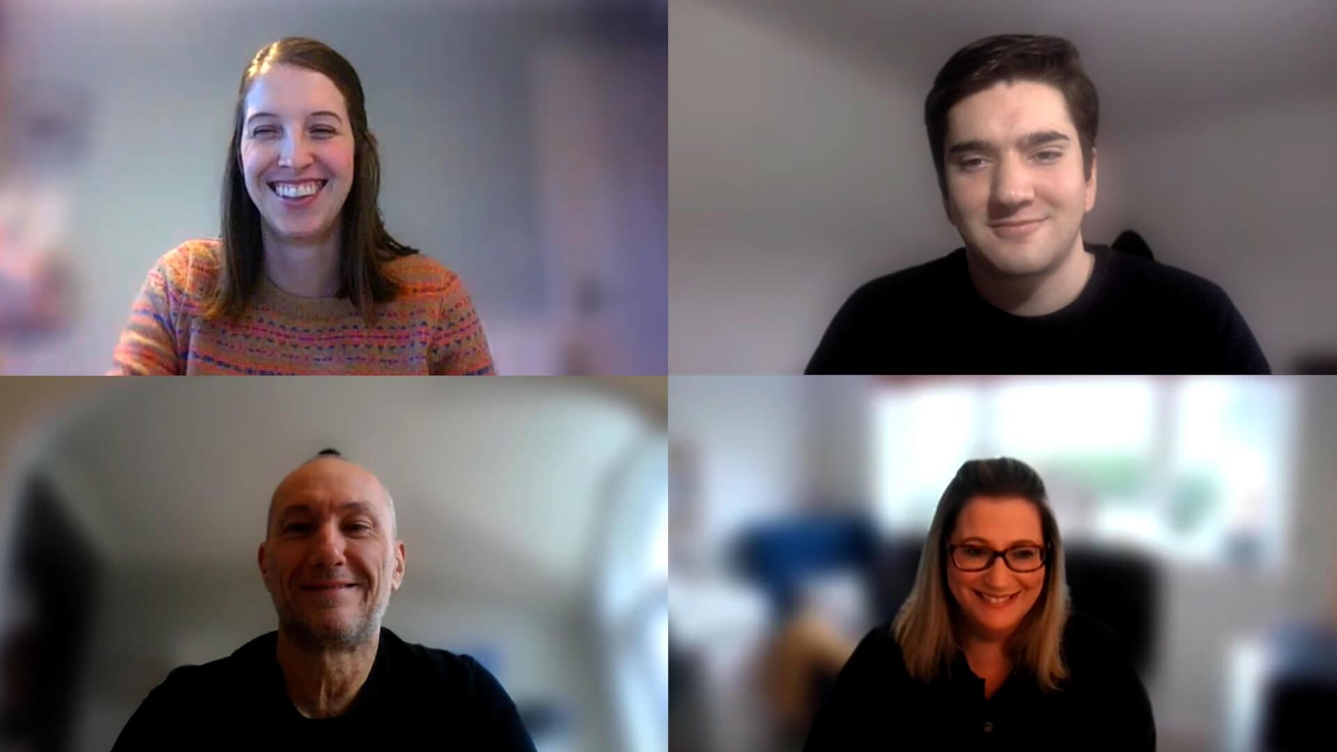 Image of pharmacy webcast panel of academics on Microsoft Teams