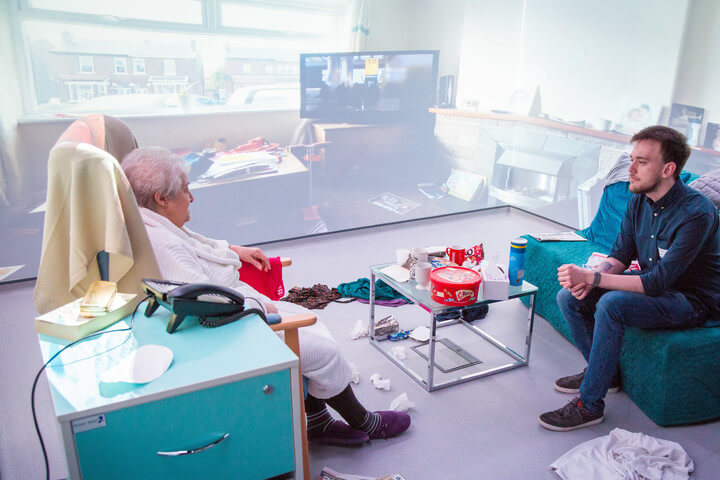 Mental Health Interprofessional Learning session in the Living Lab Immersive Suite