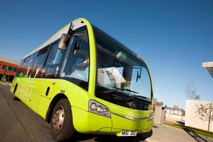 Free campus bus at city campus