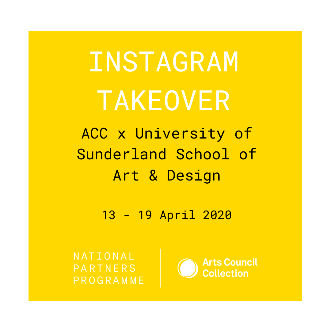 Instagram post for MA Fine Art students' takeover of ACC