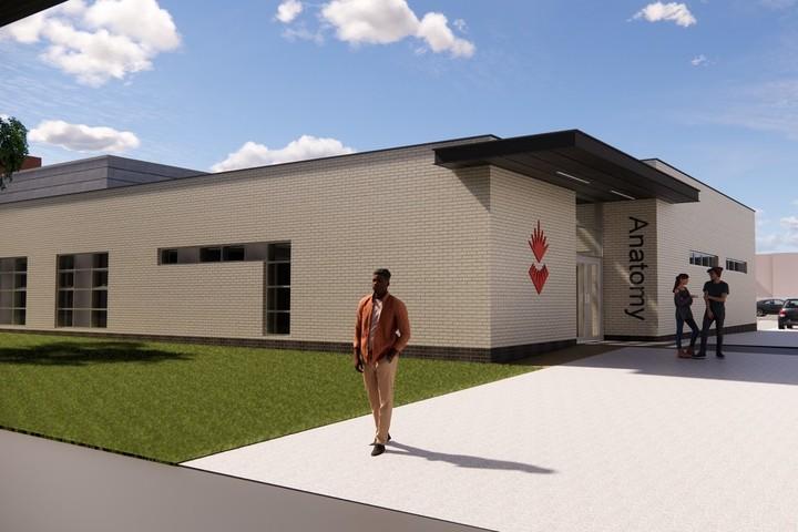 Artist impression of the School of Medicine cadaveric centre