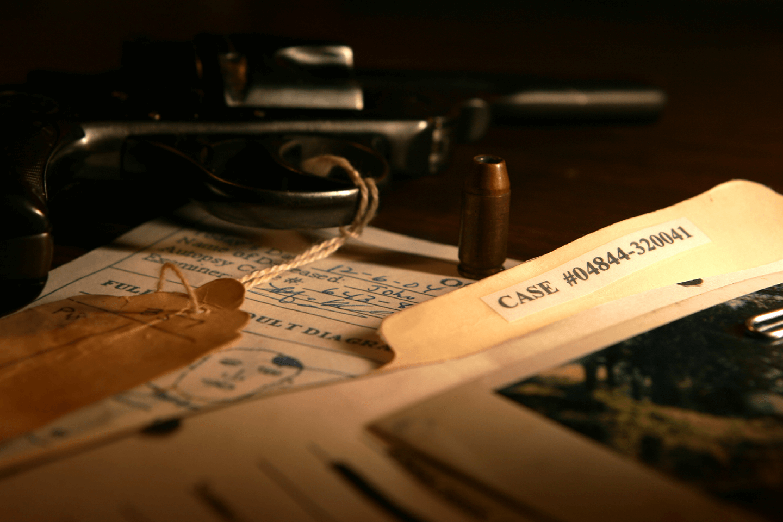 case files on desk