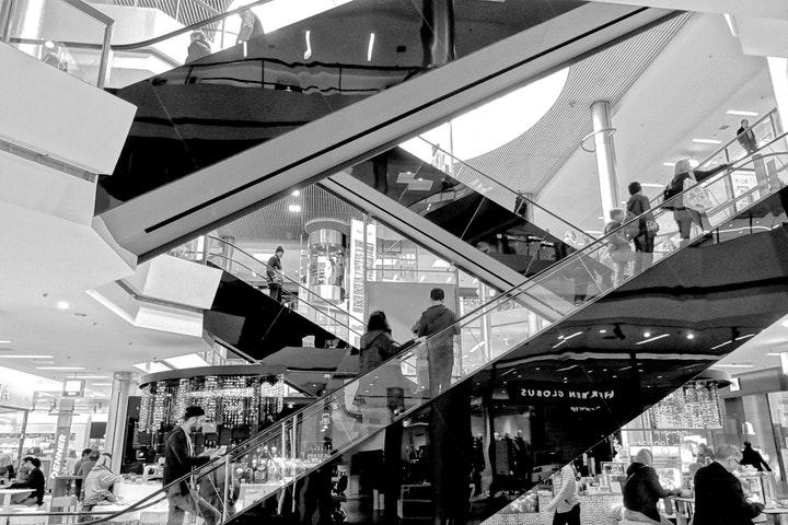 A shopping scene