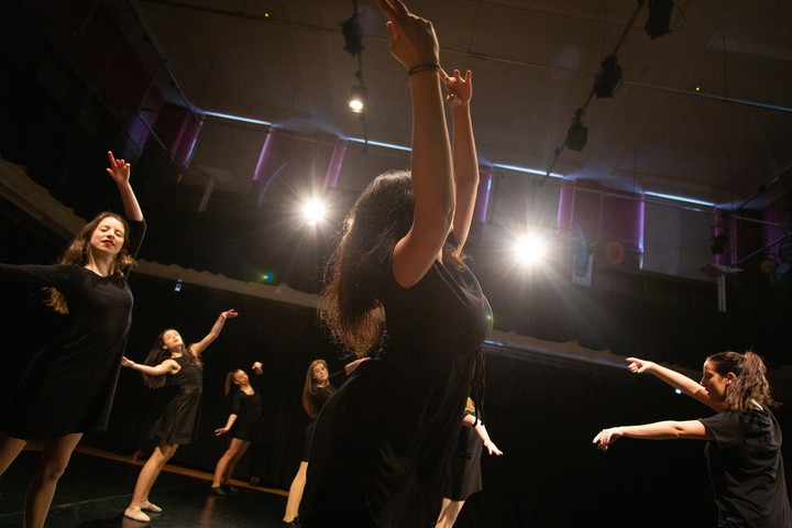 Performing arts students in the dance / drama studios