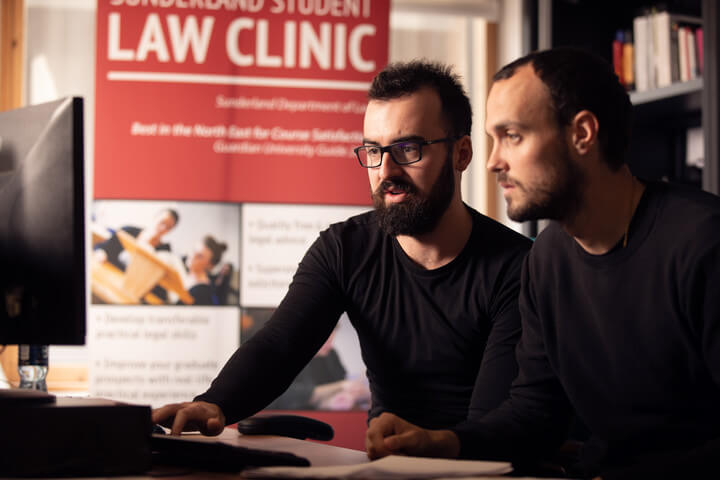 Students in the Law Clinic, University of Sunderland