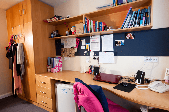 student accommodation bedroom