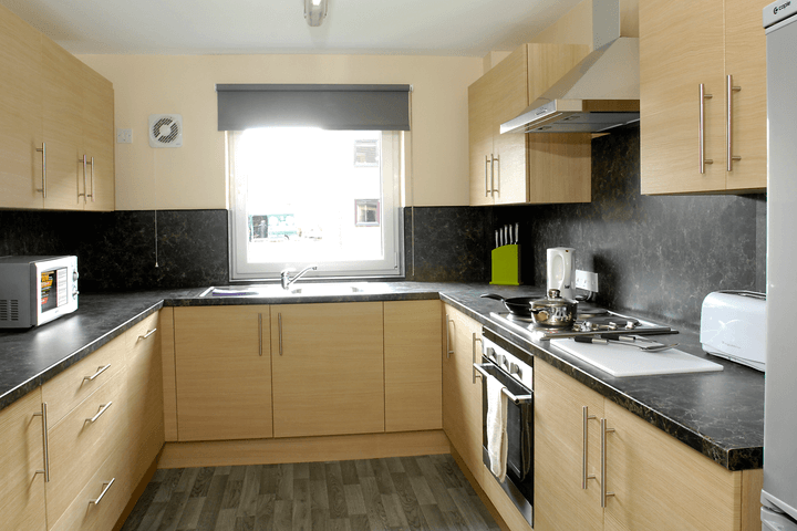student accommodation kitchen