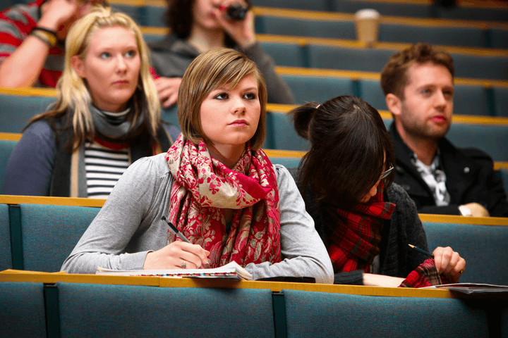 student in a lecture