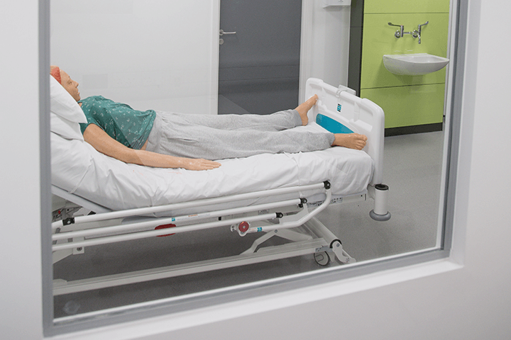 sim patient in ward
