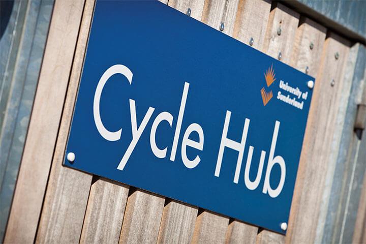 Cycle hub sign