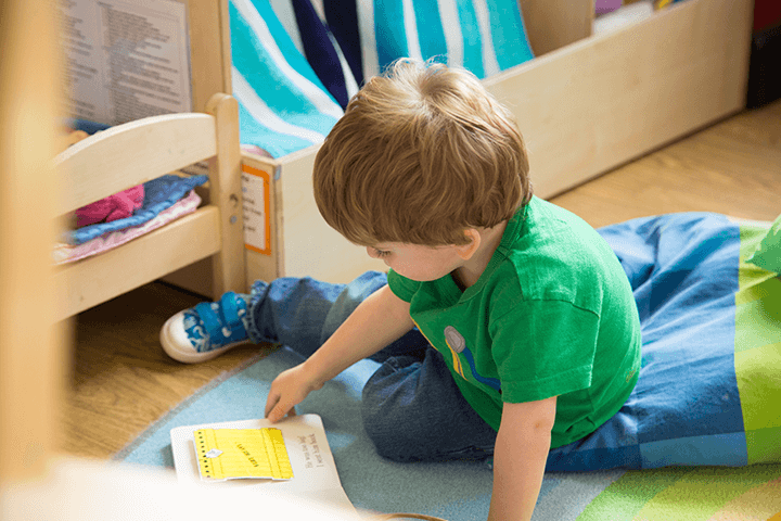 nursery child reading book