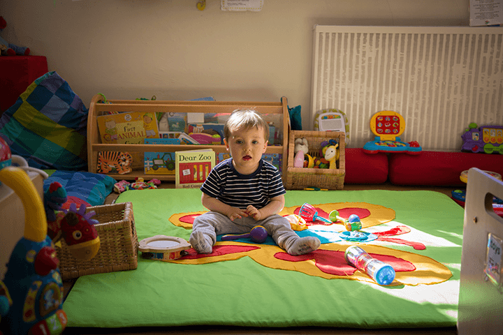 nursery child on floor