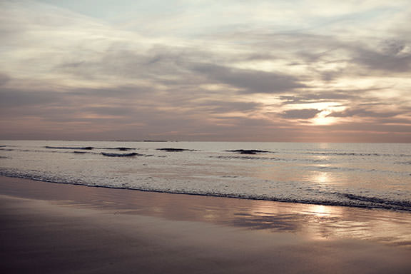 Roker beach at sunset