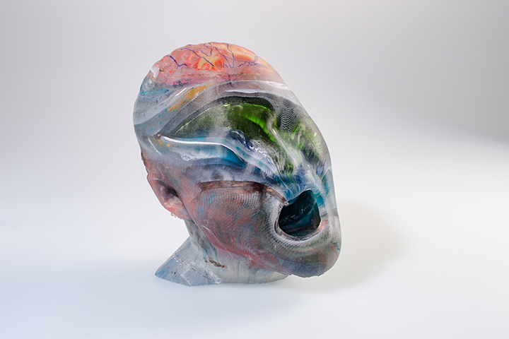 Work by Reader in Glass Jeffrey Sarmiento, part of the Encyclopaedia series, 2019