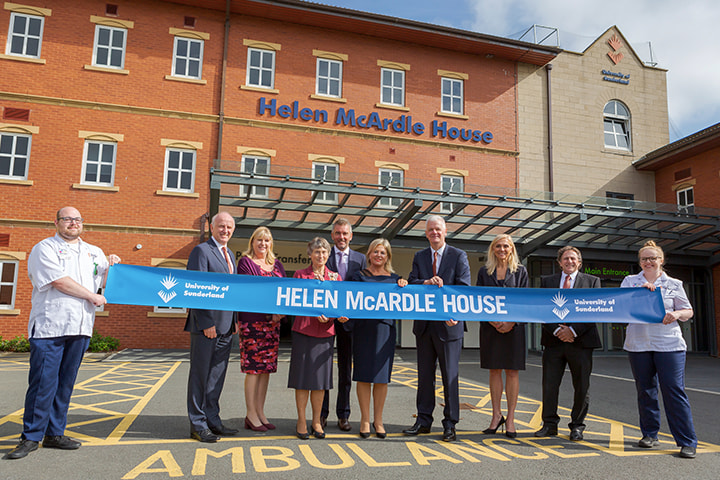 The opening of Helen McArdle house at the University of Sunderland