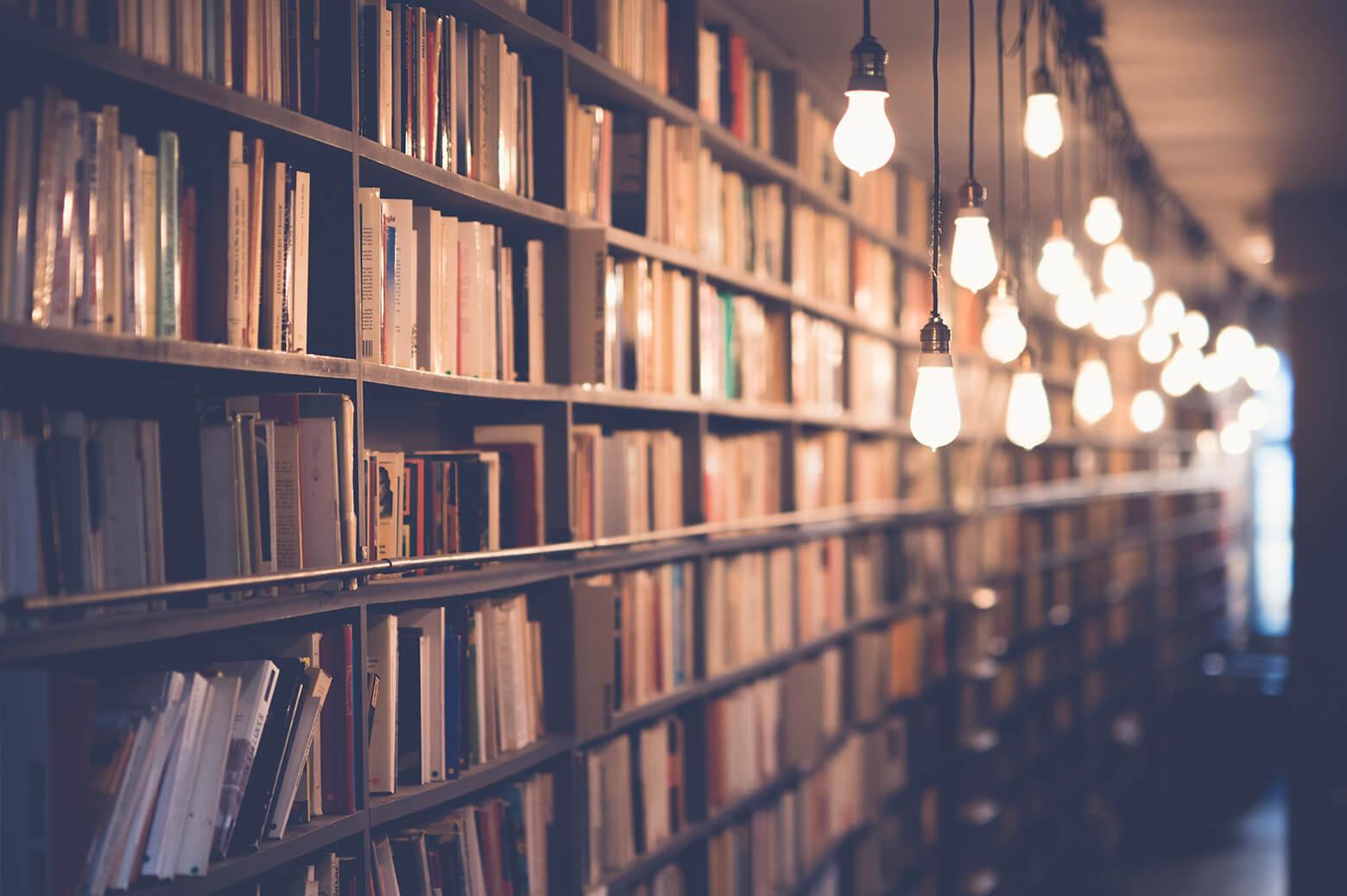 A library scene