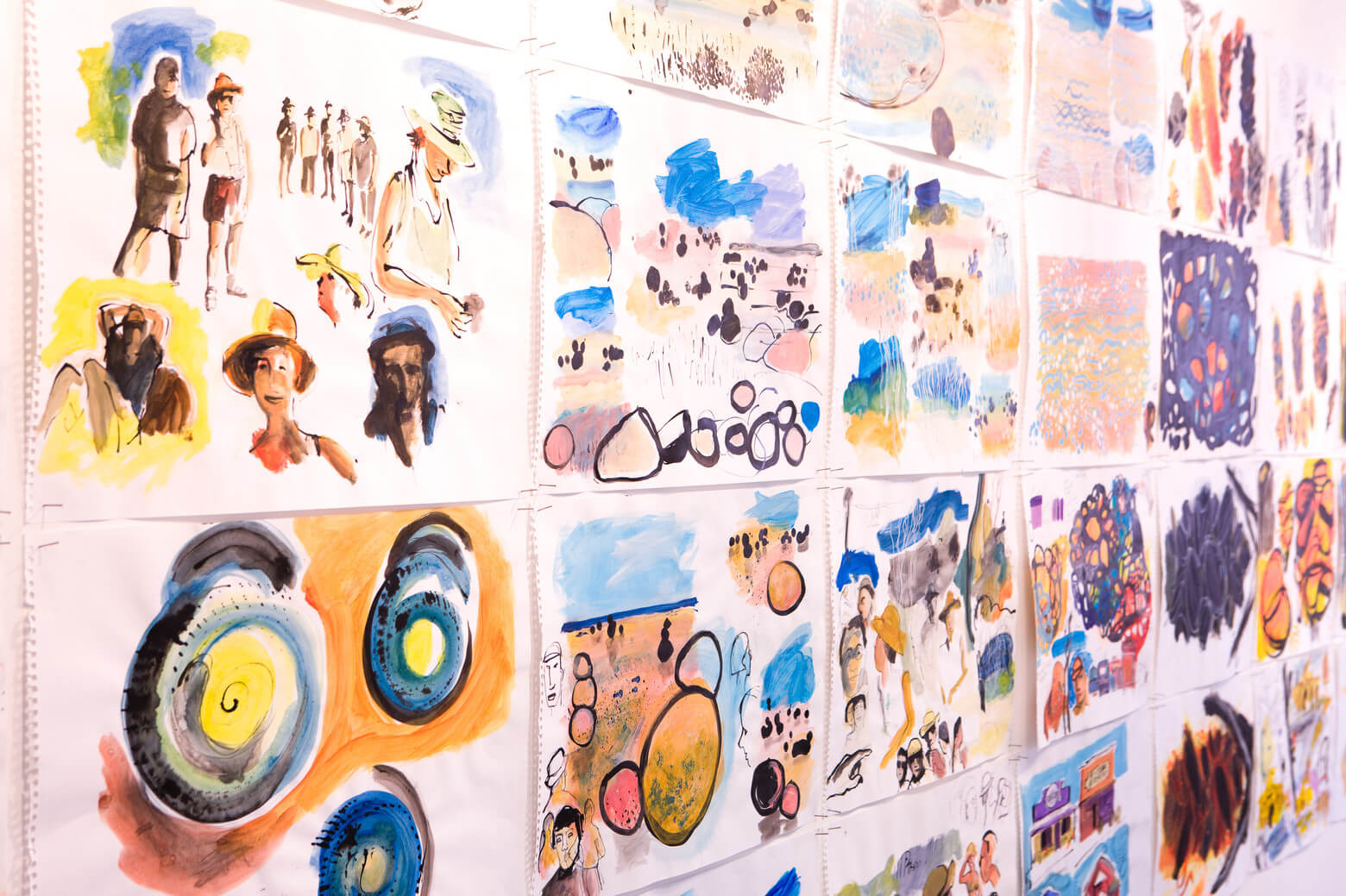Artwork in an exhibition setting