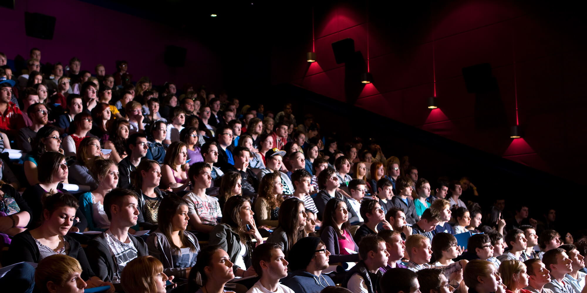 A crowd in the cinema