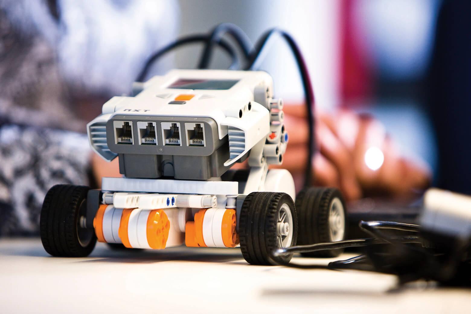A Lego Mindstorm robot