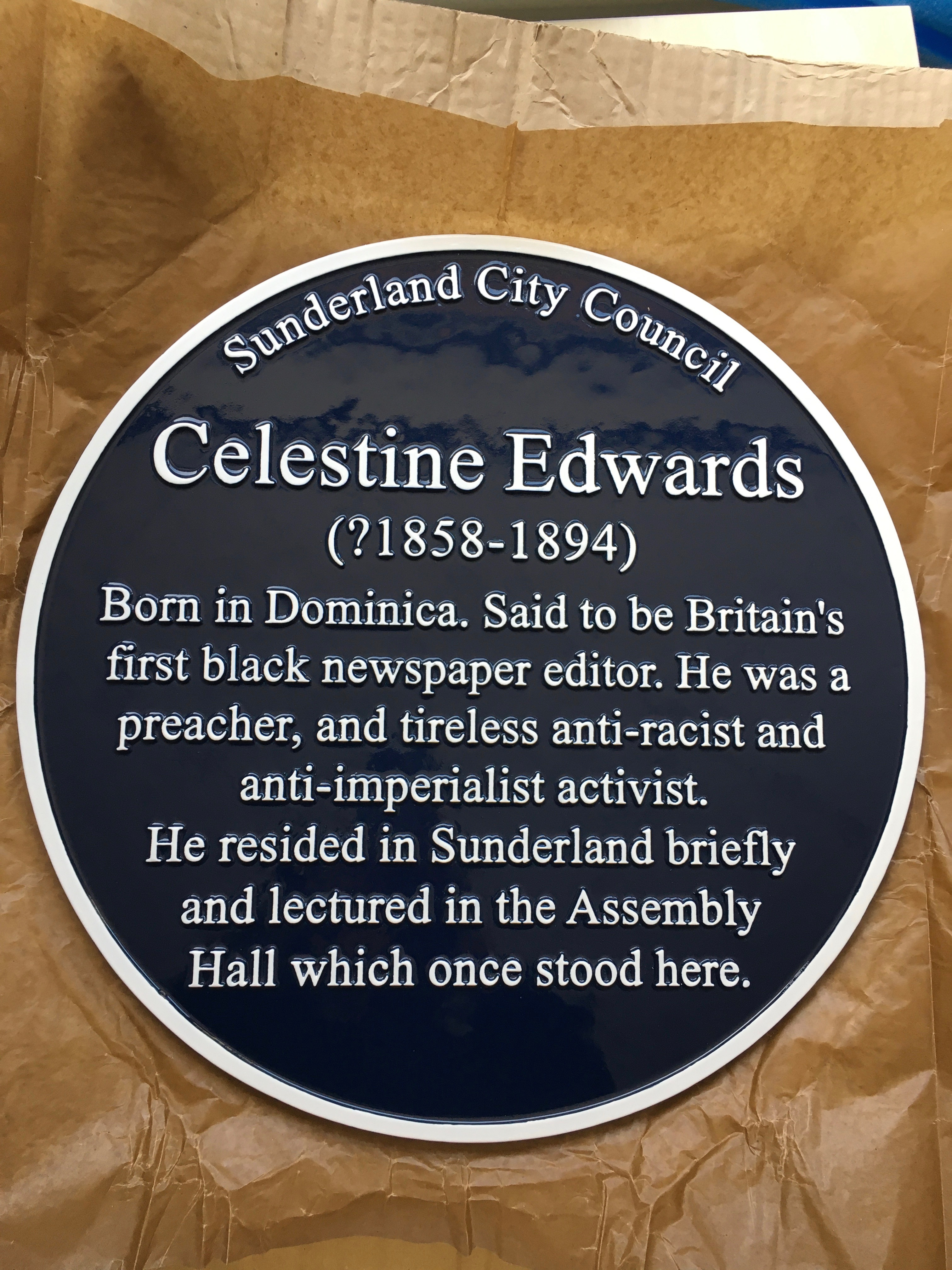 Celestine Edwards Blue plaque