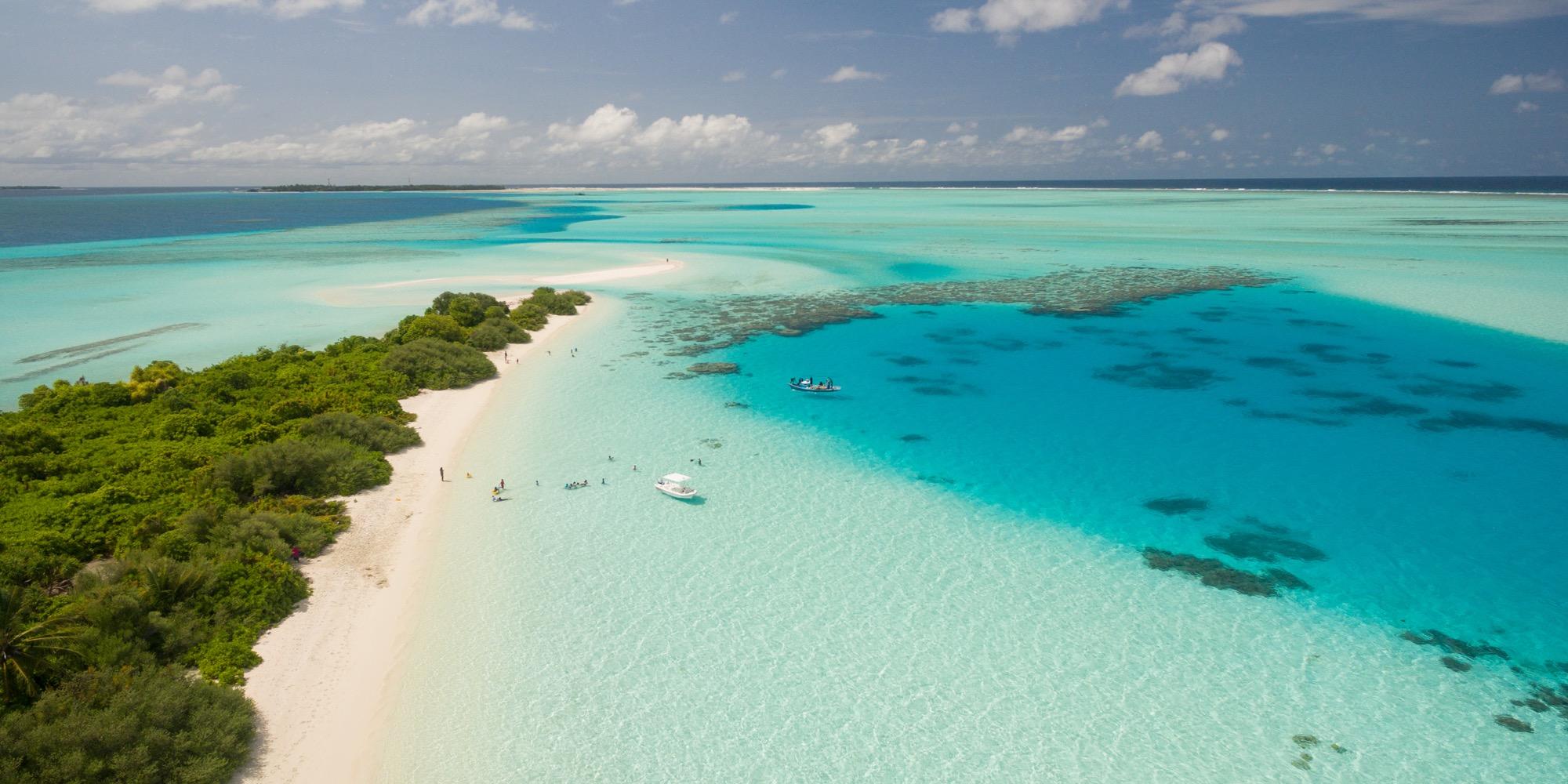 A beautiful island and surrounding sea