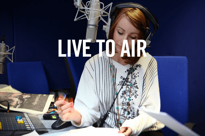 Students in the Radio Studio