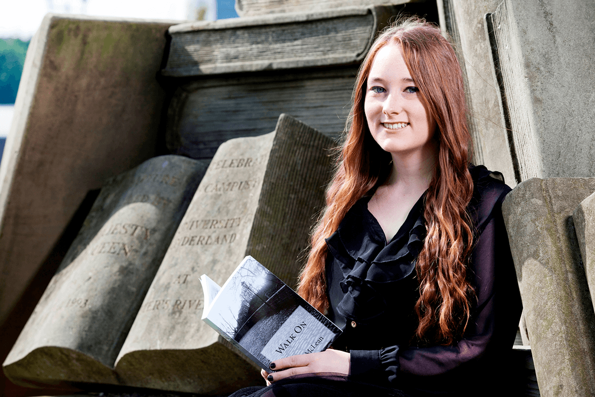 English graduate, and published author, Amy McLean