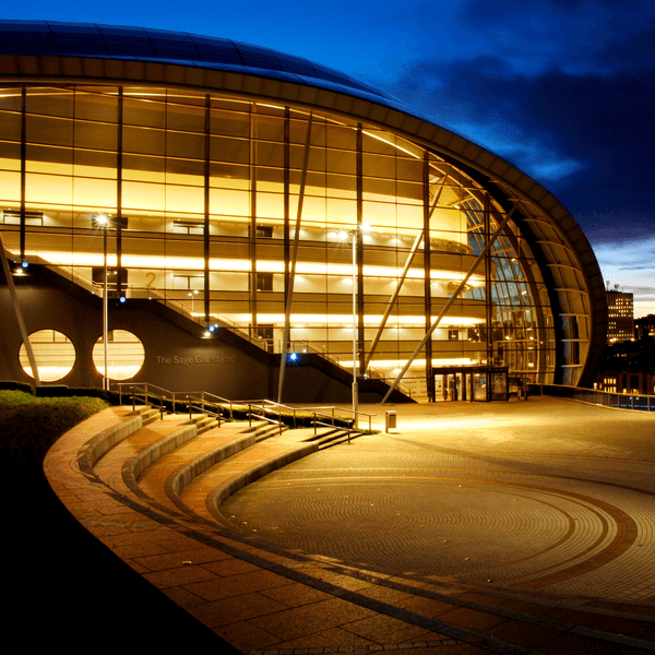 Sage Gateshead at night