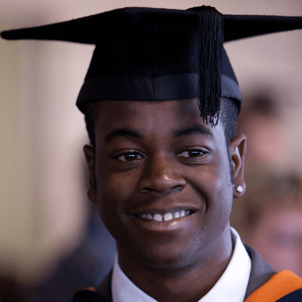Student at the graduation ceremony