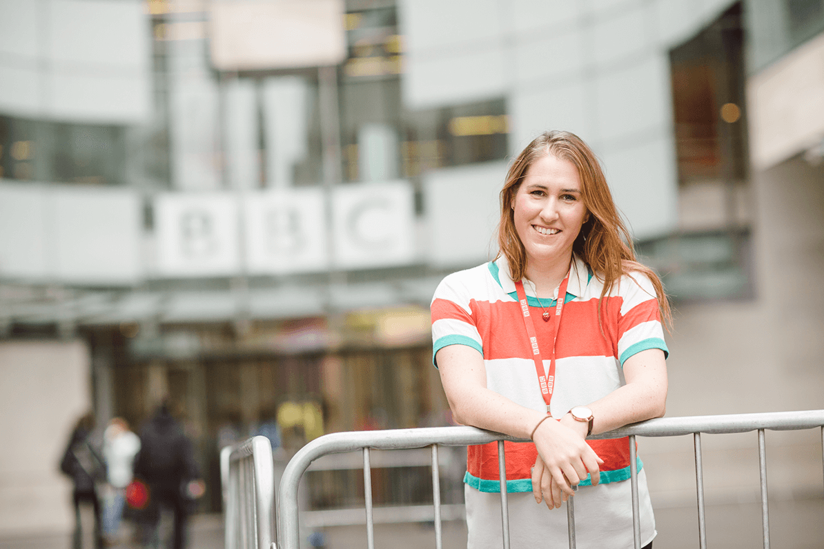 Gillian Scribbins, Business Affairs Assistant for the BBC