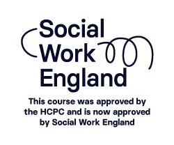 Social Work England Black logo