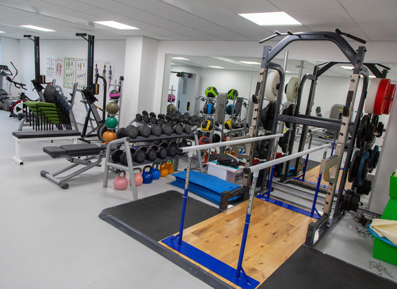 Clinical Rehabilitation & Exercise Therapy Suite with fitness equipment