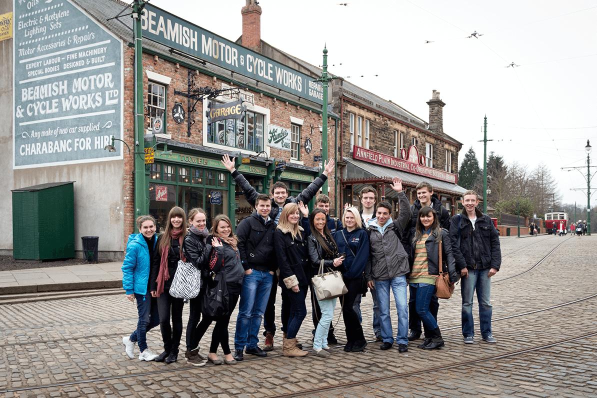 Students at Beamish
